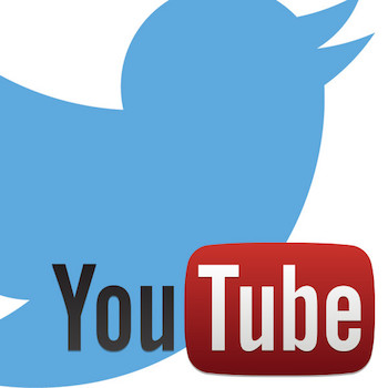 twitter and youtube