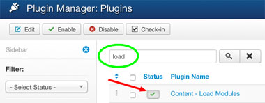plugin Content-Load Modules