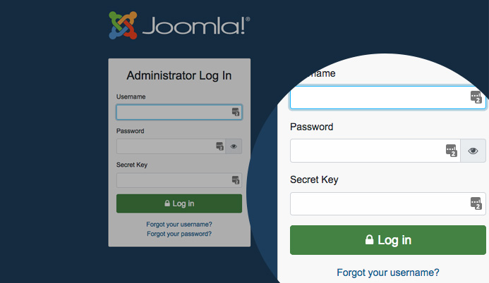 joomla 4 secure login